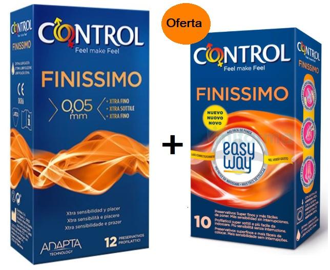 CONTROL PRESERVATIVOS FINISSIMO 12 UNIDADES COM OFERTA FINISSIMO EASY WAY X10