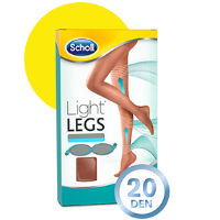 SCHOLL LIGHT LEGS COLL COMP 20DEN XL PELE
