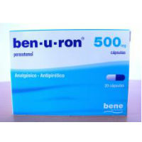 BEN-U-RON. 500 MG X 20 CAPS PARACETAMOL
