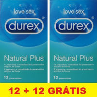 DUREX NATURAL PLU DUO PRESERVATIVO X12