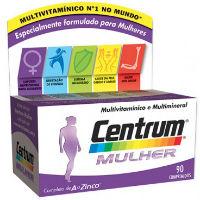 CENTRUM MULHER COMP REV X 90 COMPS RETINOL (VITAMINA A) TOCOFEROL (VITAMINA E) C